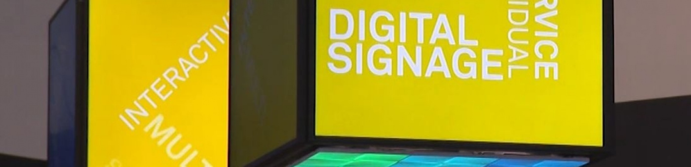 Photo: digital signage