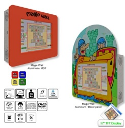 Magic Wall game machine offers games and children's cinema...