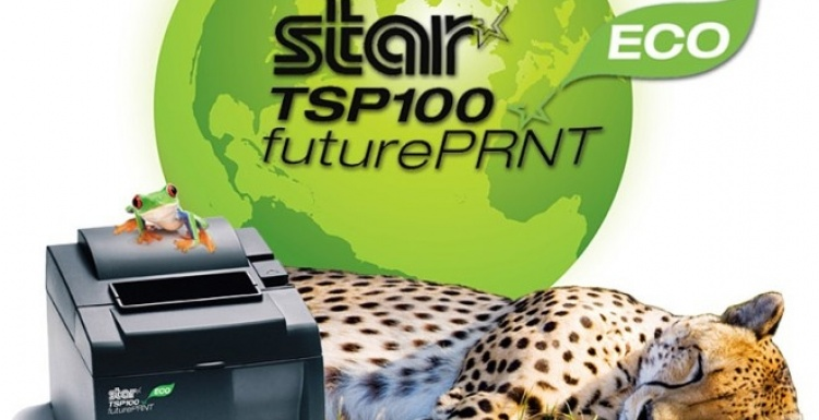 Photo: New TSP100 ECO printer from Star Micronics minimises environmental...