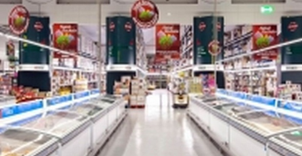 LEDs from OSRAM Opto Semiconductors illuminate supermarkets in the Jerónimo...