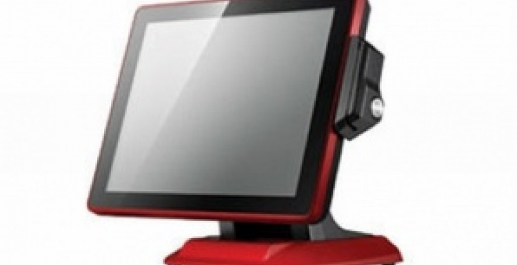Photo: AWEK presents compact POS-System smartTOUCH 2015 at EuroCIS 2012...