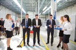 Inauguration of the new assembly facility in Leshkovo, Russia....