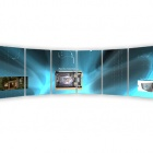 Thumbnail-Photo: The world's first curved, multi-user interactive wall...