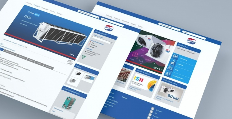 Photo: New Güntner website focusing on product information...