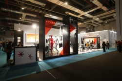 The stylish lounge focused on the topic of Visual Merchandising & Store Design...