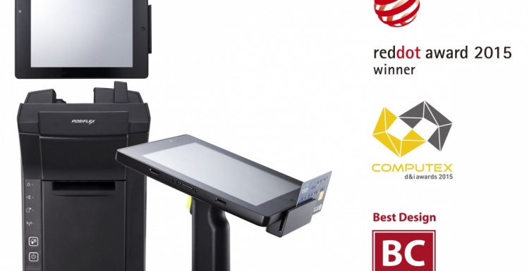 New elegant free-bezel design 15 inch all-in-one touch POS