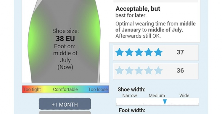 Photo: Smart tool suggests the right fit for children's shoes...