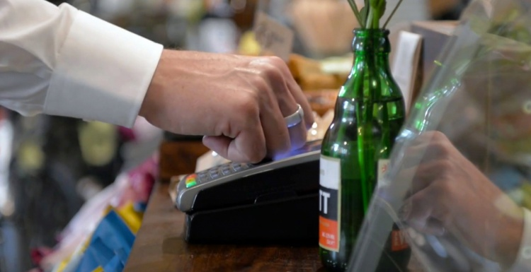 Photo: Using jewellery instead of a smart phone to pay?...