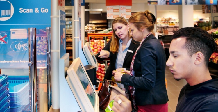Photo: Albert Heijn opens first self-checkout supermarket...