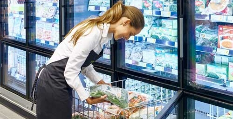 Photo: Carriers new vertical freezer delivers enhanced ergonomics and...