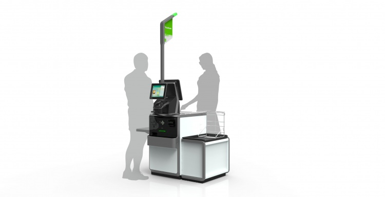 Photo: Self-checkout system with flexible, convertible design...