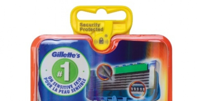 Photo: iS AutoPeg Tag protecting Gillette razor blades at more than 3,000...
