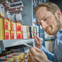 Thumbnail: Photo: An end to adhesive tape residue on the supermarket shelf...