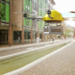Thumbnail-Photo: Drone vs. truck deliveries: Which create less carbon pollution?...