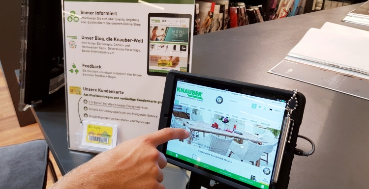 Photo: Knauber Freizeitmärkte emphasize digital signage for improved quality...