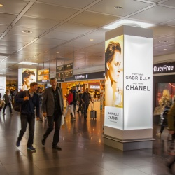 Thumbnail: Foto: Digital-Out-of-Home-Kampagne am Flughafen München...