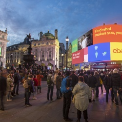 Thumbnail: Foto: Londons Piccadilly Lights leuchten wieder