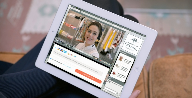 Photo: Live video shopping: in-store personal shopping assistance for online...