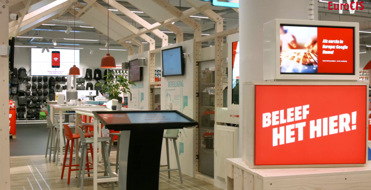 Photo: MediaMarkt Eindhoven: Inspiring customers with interactive technologies...