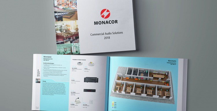 Photo: Cover and open version of a Monacor brochure; copyright: Monacor...