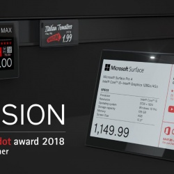 Thumbnail: Photo: SES-imagotag wins the Red Dot Award