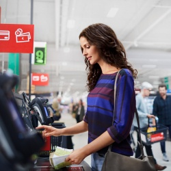 Thumbnail: Photo: German retailer roll-out of NCR self-checkouts...