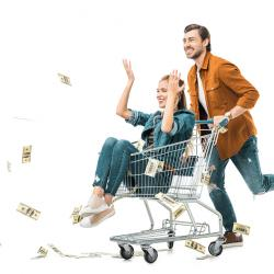 Thumbnail-Photo: Overspending is common when shopping online