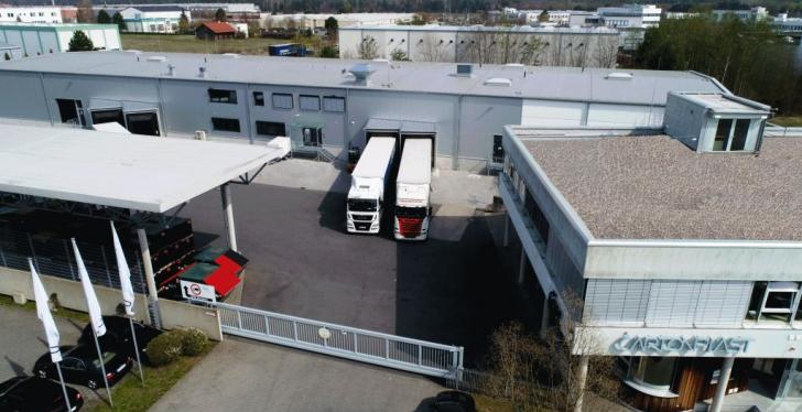 SCartonplast service center in Dietzenbach: top view...