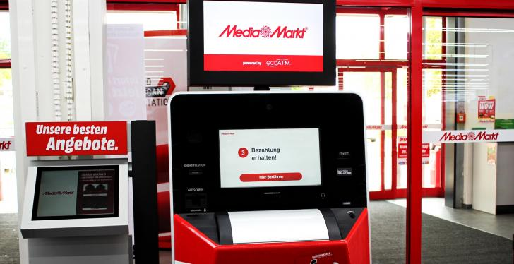 Machine in a Media Markt store