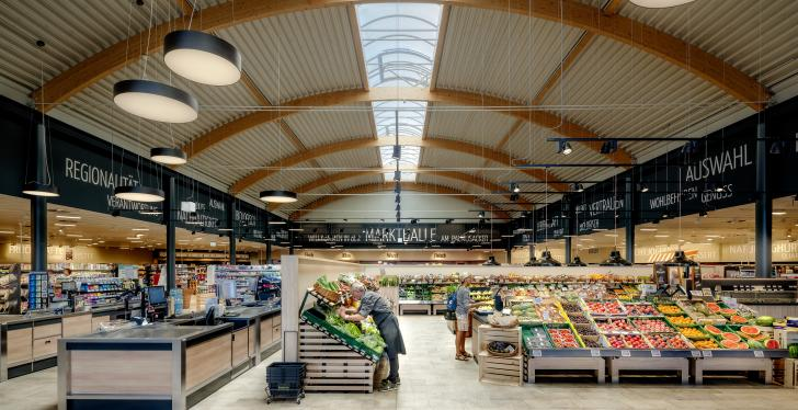 Lighting concept of Edeka Habig in Bad Soden-Salmünster...
