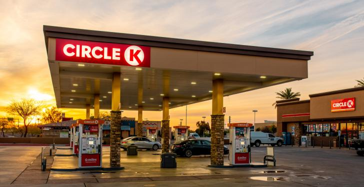 A Circle K convenience store at a gas station