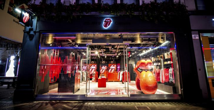 The facade and entrance area of the Rolling Stone flagship store in London...