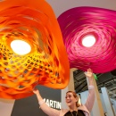 Photo: Lighting solutions from the trade fair Light + Building  2016...