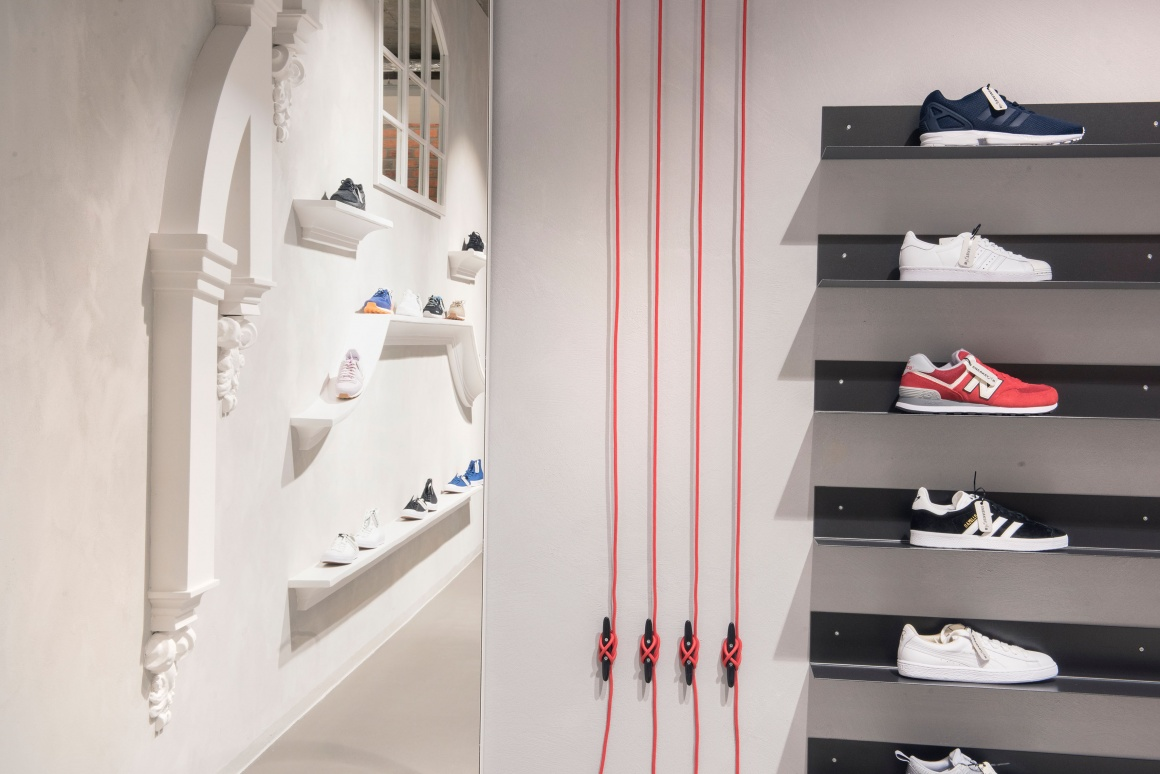 Photo: What shop design can look like: Sneakstar in Flensburg...