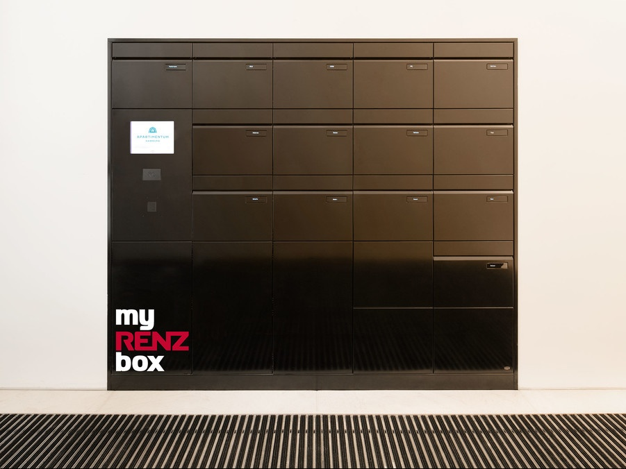 The intelligent parcel box solution makes receiving and returning packages...