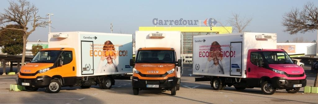 Photo: Carrefour Spain rolls out compressed natural gas trucks in its fleet...