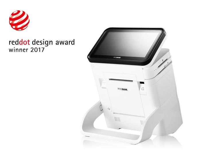 Photo: Posbank DCR wins the Red Dot Design Award 2017...
