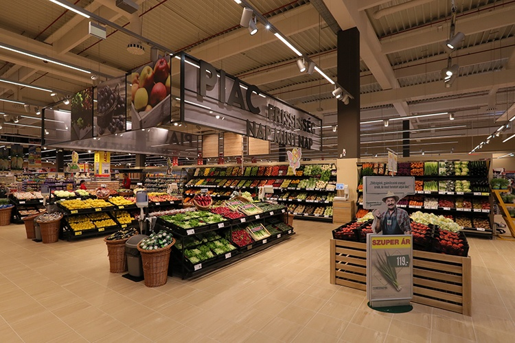 Modernised fruit and vegetable department in Interspar Zalaegerszeg....