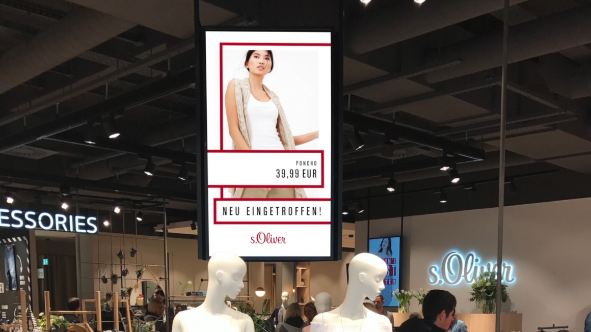 Photo: s.Oliver introduces digital signage store concept at the Ruhrpark...
