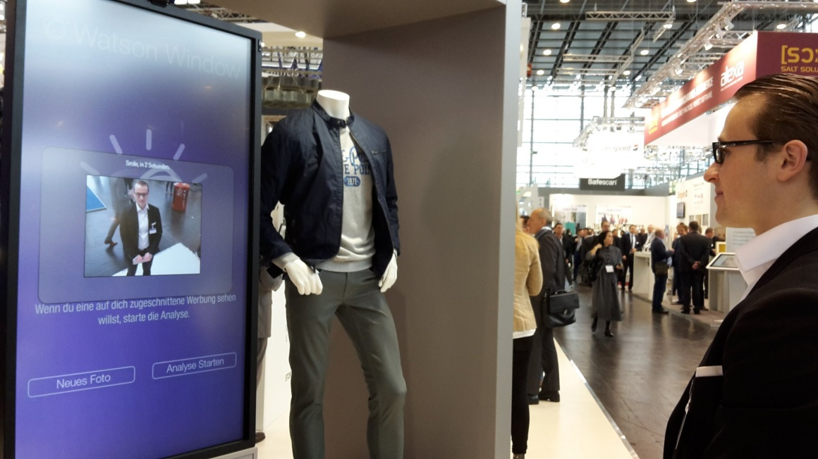 At EuroShop2017, IBM and C&A presented a digital shop window which recognizes...