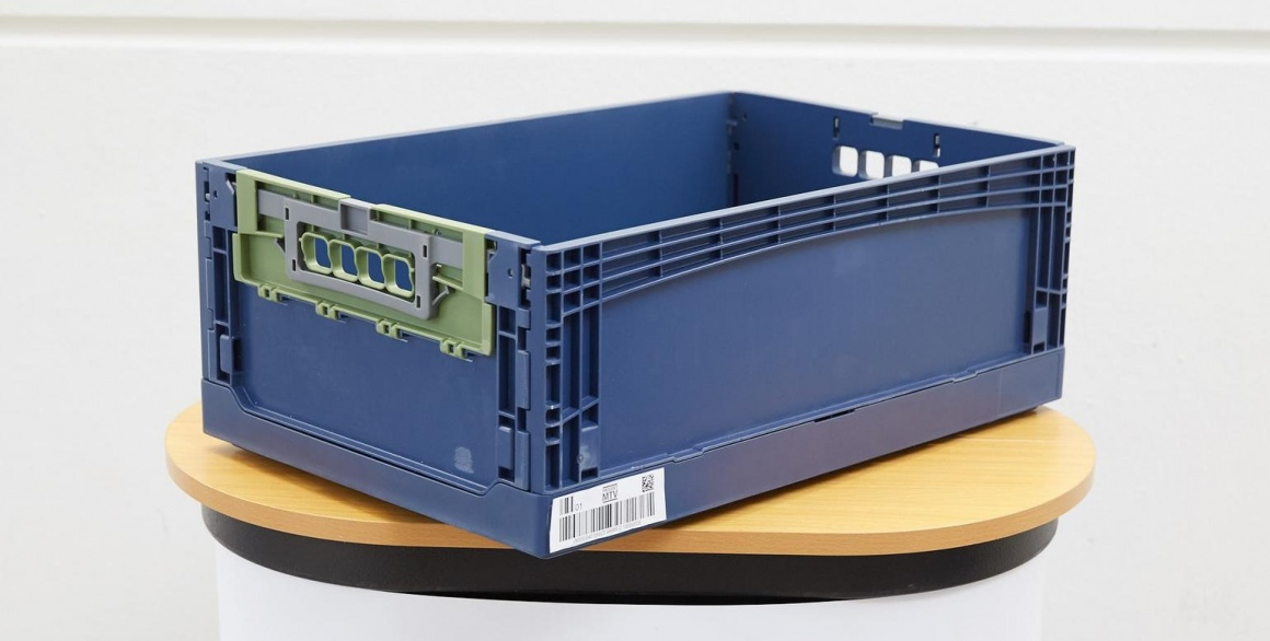 Prototype of a standardized GS1 transport container: According to the company,...