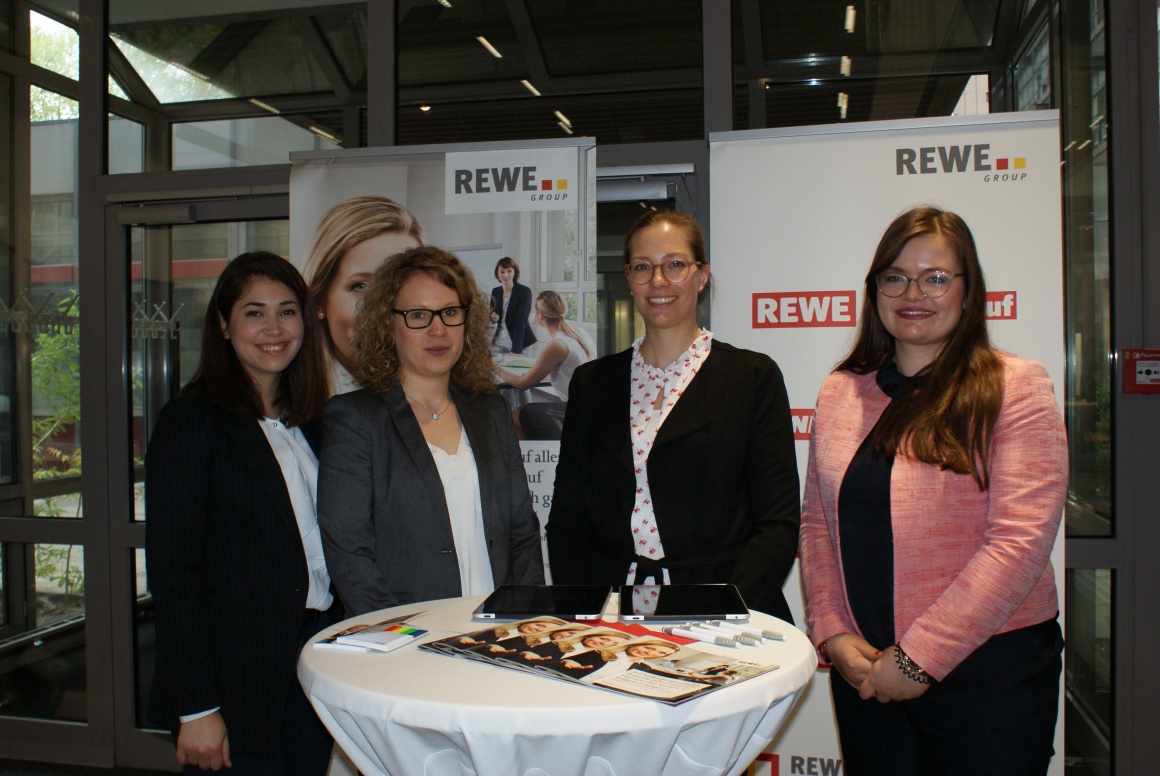 Nicole Ewald and her team present themselves at the event Retail meets...