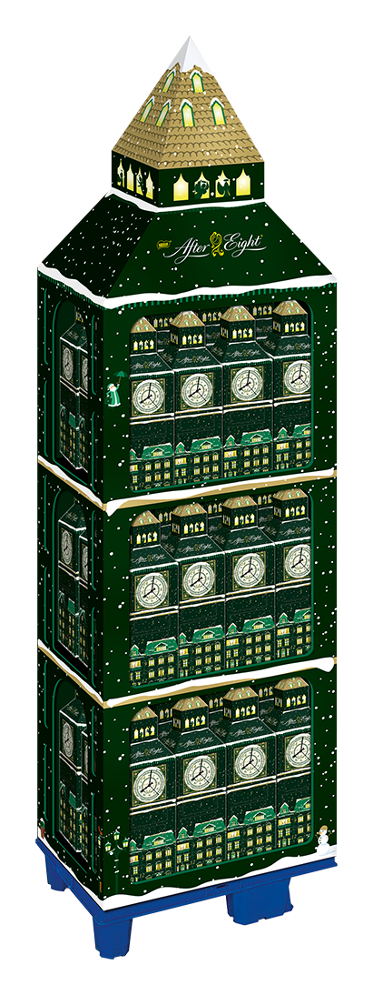 "Photo: After Eight ""Big Ben Advent Calendar"" display; Copyright: Nestlé..."