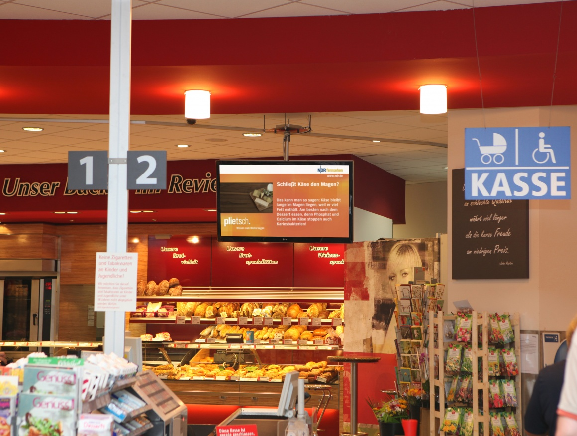 Digital Signage in Bäckerei