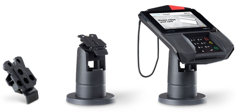 Photo: Mounting solutions and payment terminal side by side; copyright:...