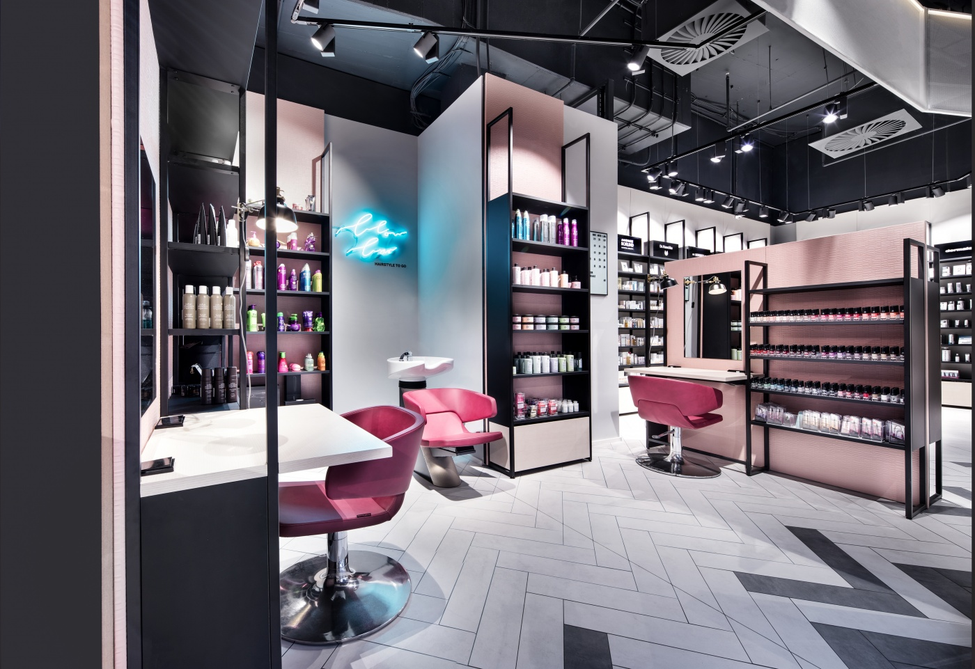 What shop design can look like the unique store of mußler beauty