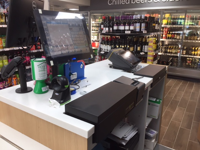 Cash register in a Spar store; copyright: APG