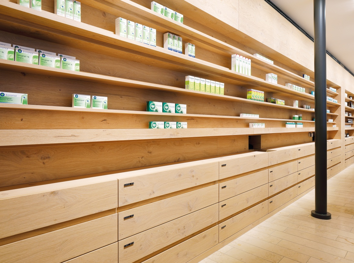 Photo: What shop design can look like: The Schubert pharmacy in Pullach on the...