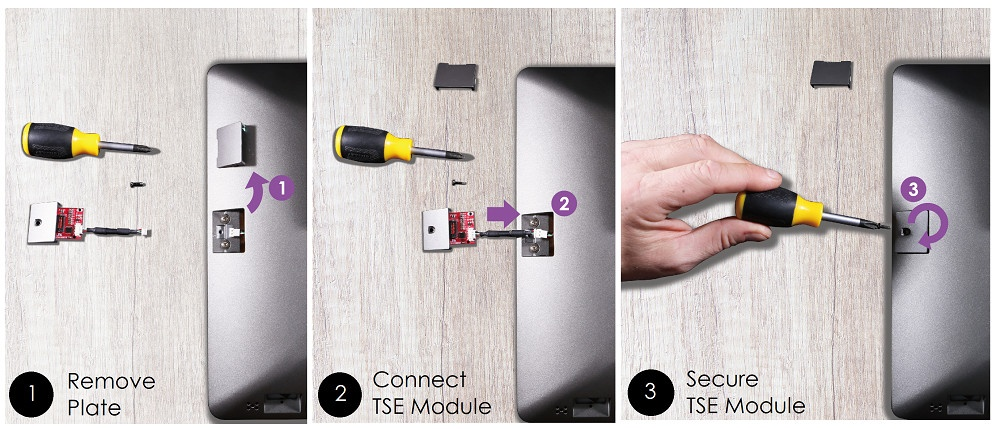 Installation instruction of a device in three pictures...
