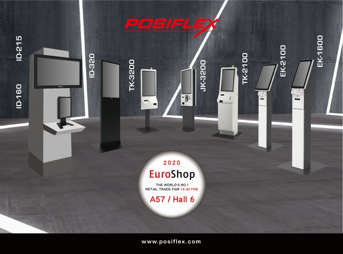 A graphic with several self-service kiosk pillars and technical information...